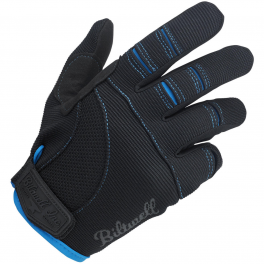 MOTO GLOVES - BLACK/BLUE