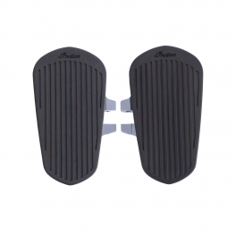 PASSENGER FLOORBOARDS WITH PADS IN CHROME - PAIR