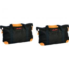 Deluxe Saddlebag Travel Bags in Black, Pair