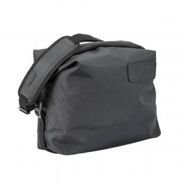 ALL WEATHER VINYL SIDE BAG WITH FOLDING SHOULDER STRAP - GRAY